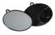 Mirror Round with Handle & Hook Black 28cm